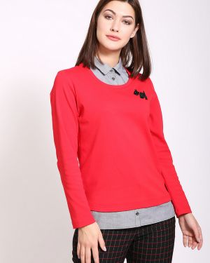 Пуловер с аппликацией красный Rabe Collection
