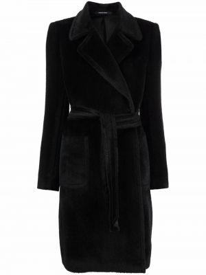 Черное пальто с лацканами Tagliatore