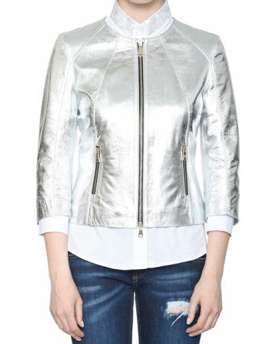 Кожаная куртка из полиэстера - серебряная Albano