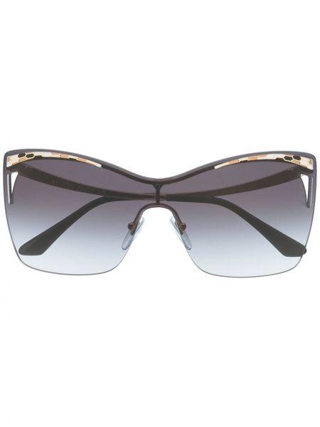 Солнцезащитные очки квадратные золотые Bvlgari