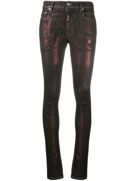 Черные джинсы-скинни с карманами металлические на молнии Rick Owens Drkshdw