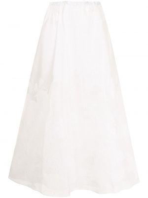 Шелковая юбка макси - белая Emporio Armani