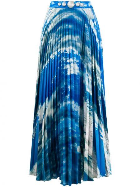 Плиссированная юбка с завышенной талией макси Christopher Kane