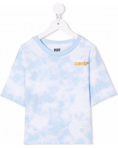 Biała T-shirt z nadrukiem bawełniana Levis Kids