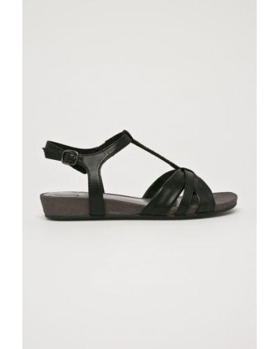 Черные сандалии текстильные Jana