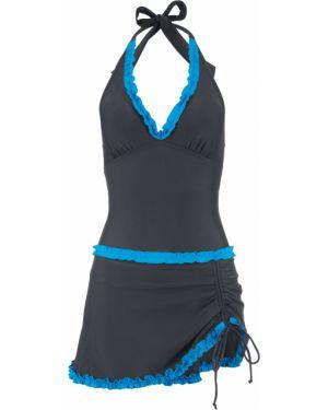 Платье купальное с оборками Bonprix