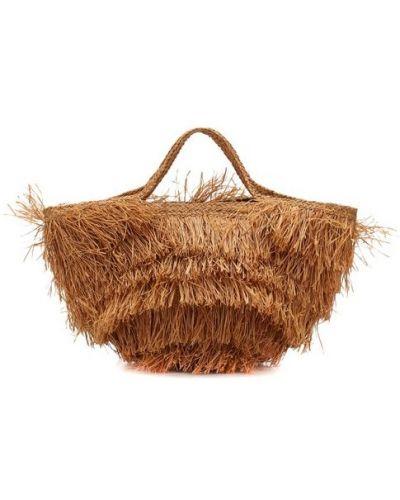 Пляжная сумка большая бежевый Sans-arcidet