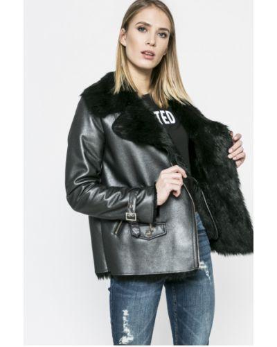 Кожаная куртка с карманами утепленная Marciano Guess