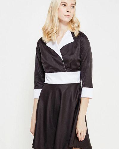 Прямое домашнее черное платье Sk-house