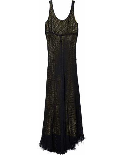 Хлопковое платье макси - черное Marc Jacobs