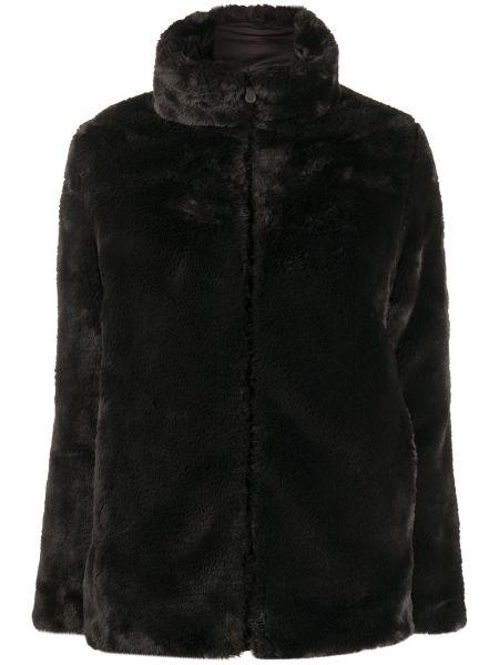 Коричневое длинное пальто с воротником двустороннее Save The Duck