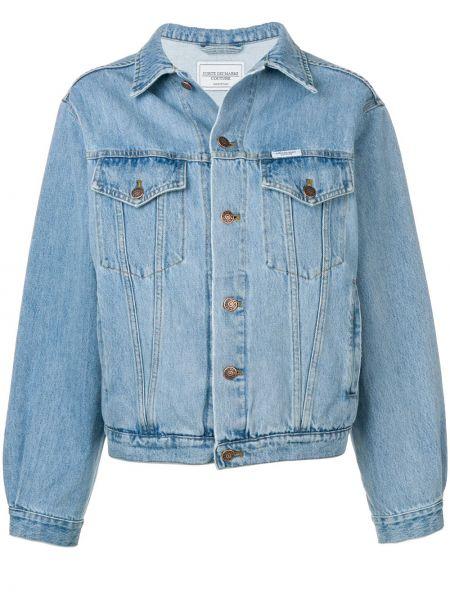 Хлопковая джинсовая куртка - синяя Forte Dei Marmi Couture