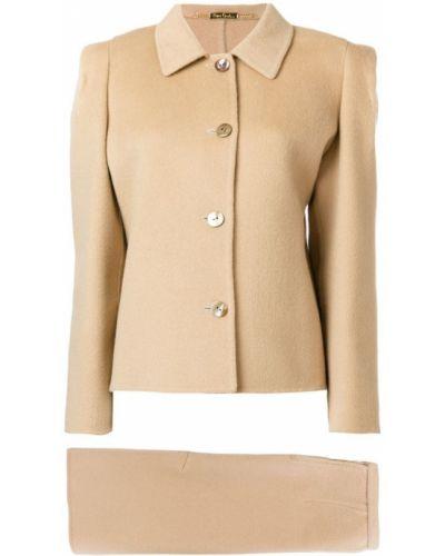 Кашемировый классический вязаный юбочный костюм на пуговицах Pierre Cardin Pre-owned