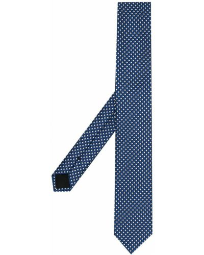 Czarny krawat z jedwabiu z printem Boss