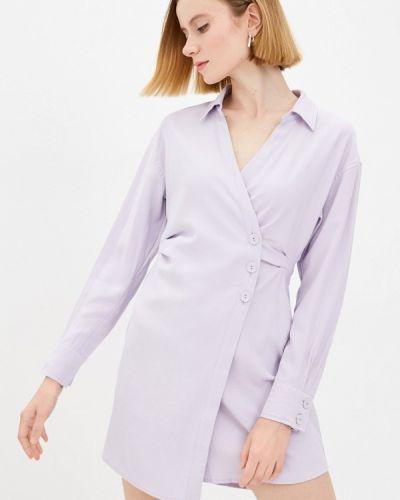 Фиолетовое платье с запахом Zarina