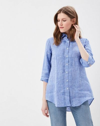 Блузка синяя весенний Webb & Scott Co.
