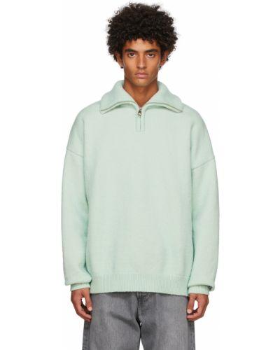 Zielony włoski sweter Drole De Monsieur
