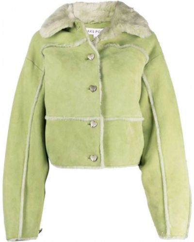 Зеленая замшевая куртка Saks Potts