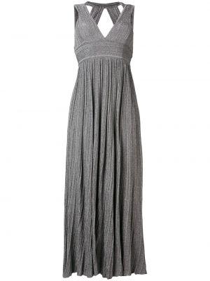 Платье с открытой спиной серое Antonino Valenti