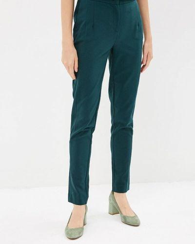 Зеленые брюки с завышенной талией Zarina