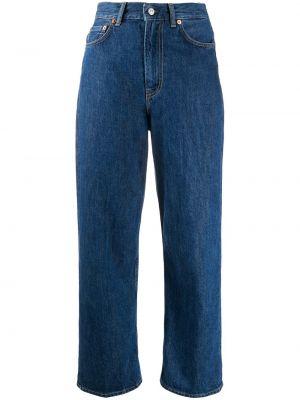 Хлопковые синие джинсы варенки на молнии Acne Studios
