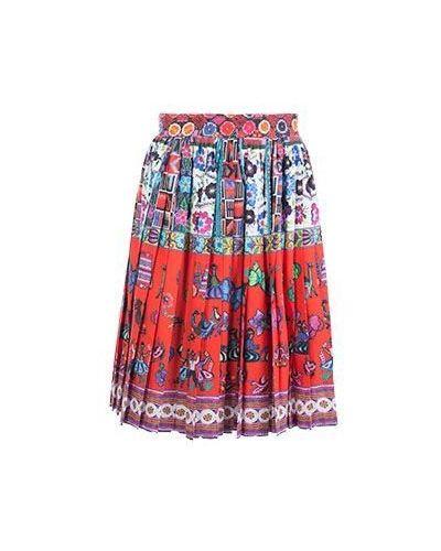 Красная юбка миди летняя Stella Jean