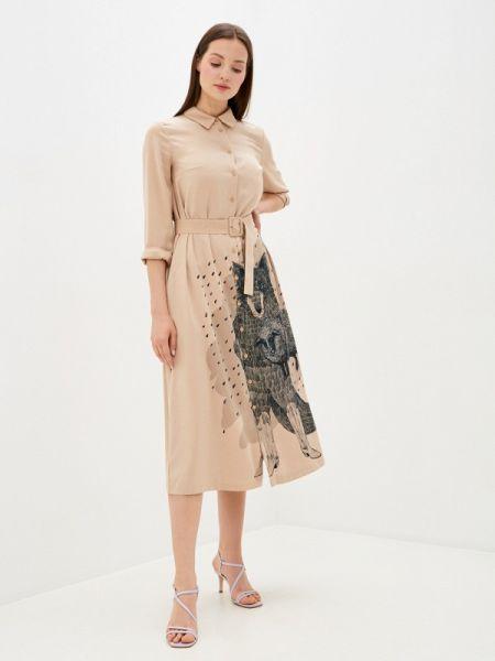 Платье платье-рубашка бежевое Akhmadullina Dreams