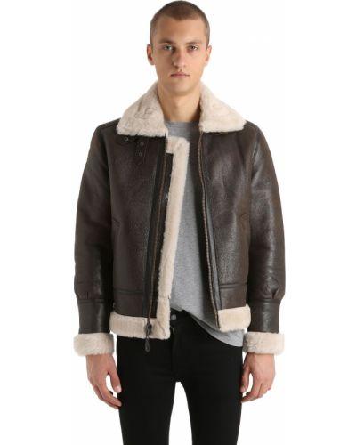 Кожаная куртка из овчины - коричневая Schott