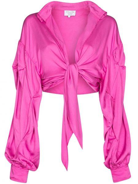 Koszula wiązana - różowa Collina Strada