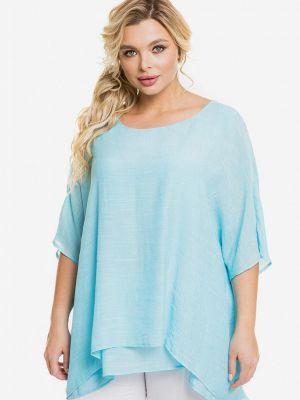 Голубая весенняя блузка Venusita