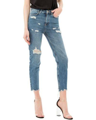 Niebieskie mom jeans Fracomina