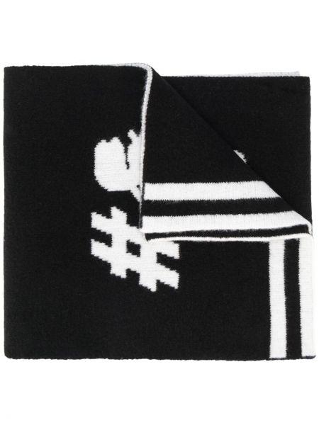 Czarny szalik Karl Lagerfeld