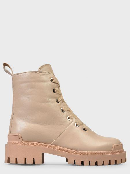 Кожаные ботинки - бежевые Helena Soretti