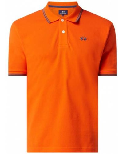 Pomarańczowy t-shirt bawełniany La Martina