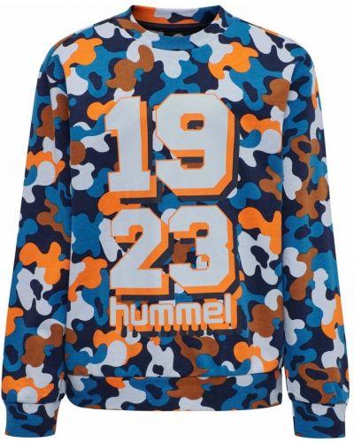 Niebieska bluza z długimi rękawami Hummel