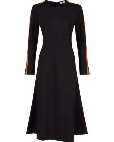 Платье из вискозы - черное Sfizio