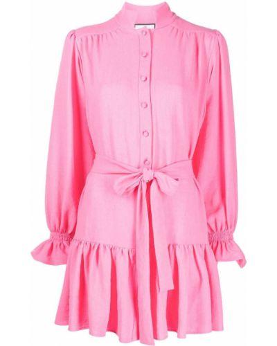 Розовое платье с воротником Alexis