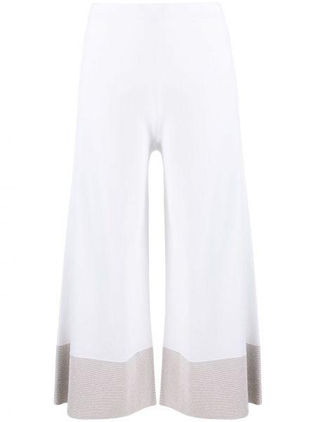 С завышенной талией белые укороченные брюки свободного кроя D.exterior