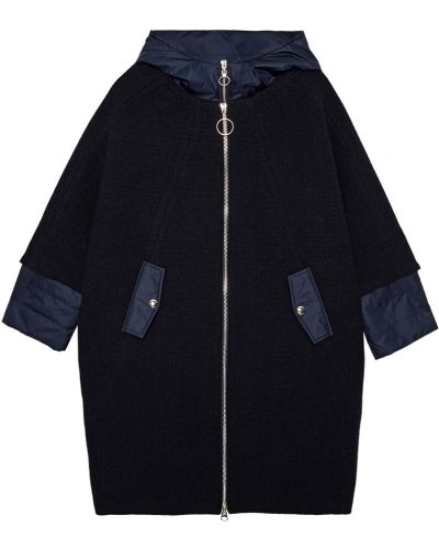 Пальто с капюшоном кокон шерстяное Milamarsel