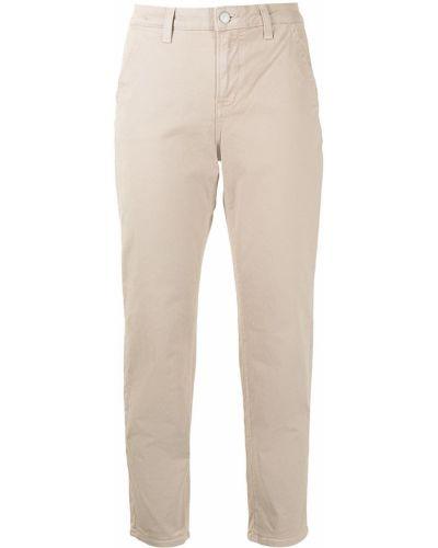 С завышенной талией хлопковые укороченные брюки с карманами Veronica Beard