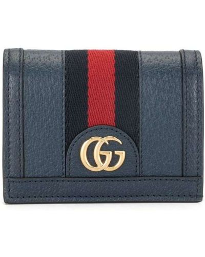Niebieski portfel skórzany Gucci