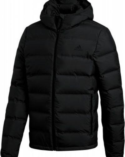 Зимняя куртка с капюшоном черная Adidas