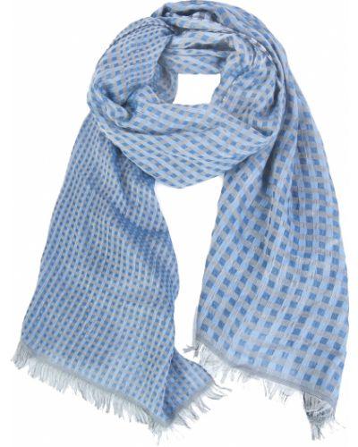 Синий шарф шелковый Lagerfeld