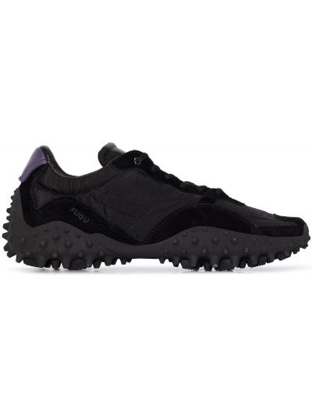 Czarny włókienniczy sneakersy Eytys