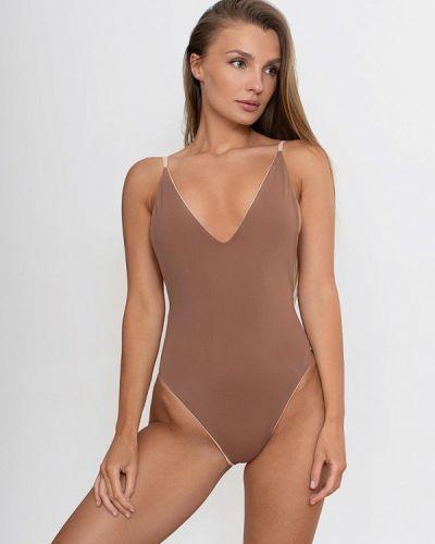 Плюшевый коричневый слитный купальник Love Pam