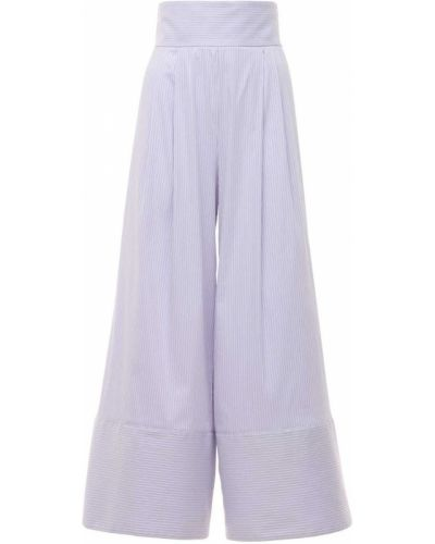 С завышенной талией брюки в полоску свободного кроя Luisa Beccaria