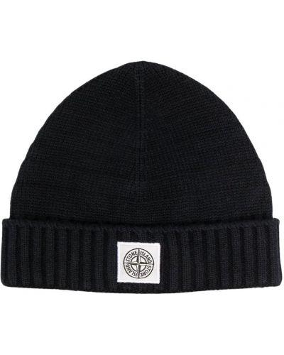 Klasyczny czarny kapelusz Stone Island