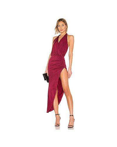 Платье макси с запахом вязаное Yfb Clothing