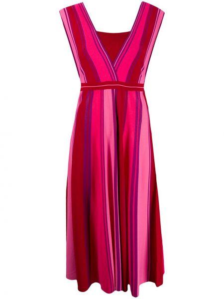 Платье макси розовое с открытой спиной Pinko