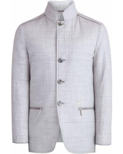 Кожаная куртка с манжетами на молнии Stefano Ricci